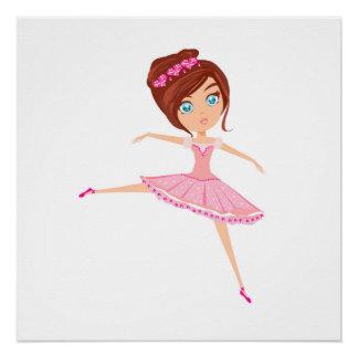 Het mooie Document van het Poster van de ballerina Perfect Poster