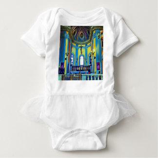 Het mooie Gele Blauwe Trillende Altaar van de Kerk Romper