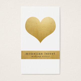 Het mooie Gouden Elegante Hart van de Folie Faux Visitekaartjes
