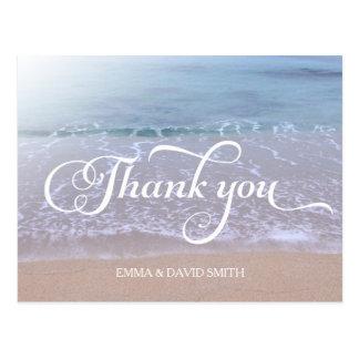 Het mooie Huwelijk van het Strand dankt u Briefkaart