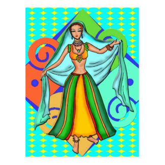 Het mooie Meisje van Buikdansen Briefkaart