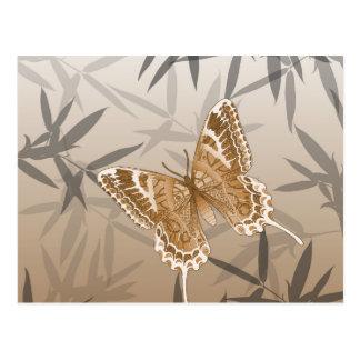 Het mooie Ontwerp van de Vlinder van het Koper Briefkaart