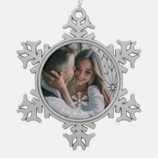 Het mooie Ornament van de Foto van de Sneeuwvlok