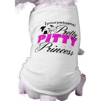 Het mooie Overhemd van Pitbull van de Prinses Pitt Mouwloos Hondenshirt
