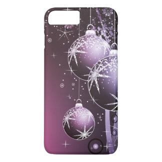 Het mooie Paarse Ontwerp van Kerstmis iPhone 8/7 Plus Hoesje