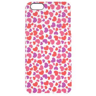 het mooie paarse rode vectorart. van liefdeharten