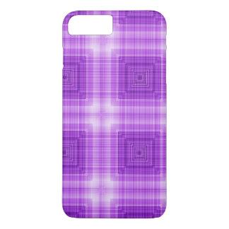 Het mooie Patroon van de Plaid van de Lavendel iPhone 7 Plus Hoesje