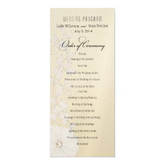 Het mooie Programma van het Huwelijk van het 10,2x23,5 Uitnodiging Kaart