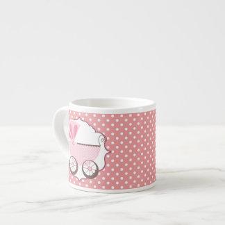 Het mooie Roze Baby shower van het Vervoer van het Espresso Kop