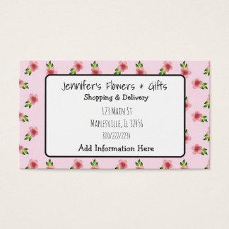 Het mooie Roze Bloemen & Visitekaartje van de Boog Visitekaartjes