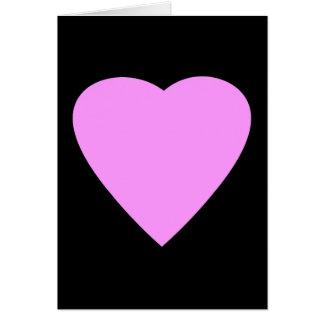 Het mooie Roze en Zwarte Hart van de Liefde Kaart