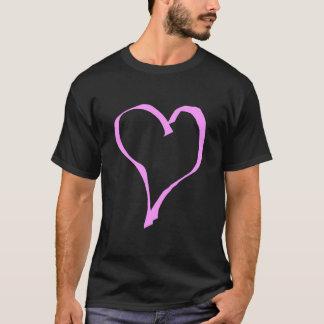 Het mooie Roze en Zwarte Hart van de Liefde T Shirt
