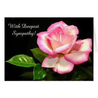 Het mooie Roze nam het Wenskaart van de Sympathie