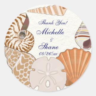 Het mooie Strand dankt u Ronde Sticker