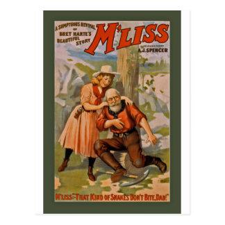 Het Mooie Verhaal van Harte van Bret, M'liss 1900 Briefkaart