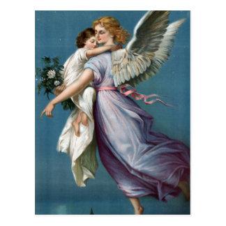 Het mooie Vintage Art. van de Hemel van de Engel Briefkaart