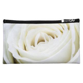 Het mooie Wit nam Bloemen maakt omhoog Kosmetische Make-up Tasje