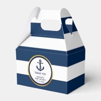 Het mooie Zeevaart Marineblauwe Gouden Baby shower Bedankdoosjes