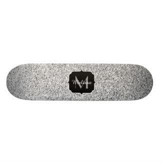 Het mooie Zilver schittert fonkelingenMonogram 21,6 Cm Old School Skateboard Deck