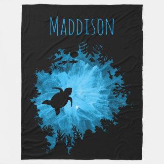 Het mooie Zwarte Blauw van de Schaduw van de Fleece Deken