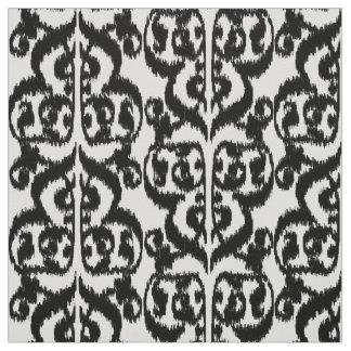 Het Moorse zwart-witte Damast van Ikat - Stof