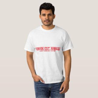Het morgen wordt geannuleerd t shirt