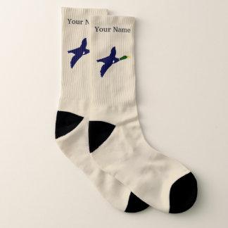 Het motief en de naam van de eend sokken