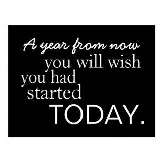 Het motivatie Briefkaart van het Begin vandaag