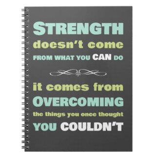 Het Motivatie citaat van de sterkte Notitieboek
