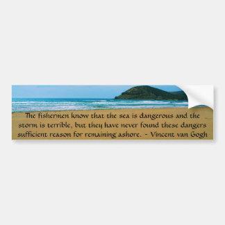 Het motivatie citaat van Vincent van Gogh Bumpersticker