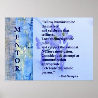 Het motivatie Poster van de Mentor