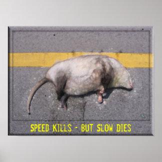 Het Motivatie Poster van Roadkill