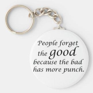 Het motivatie spreuk van het inspirerend basic ronde button sleutelhanger