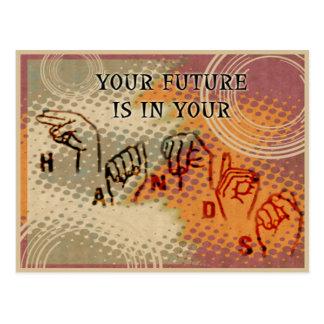 Het motiveren van anderen briefkaart