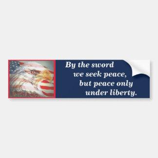 Het Motto van de Staat van Massachusetts Bumpersticker