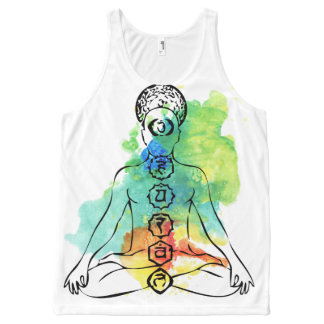 Het Mouwloos onderhemd van Chakra Om van de Hindi All-Over-Print Tank Top
