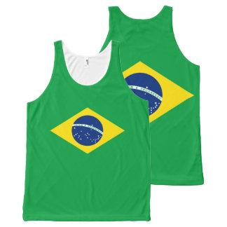 Het Mouwloos onderhemd van de Vlag van Brazilië All-Over-Print Tank Top