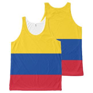 Het Mouwloos onderhemd van de Vlag van Colombia All-Over-Print Tank Top