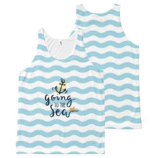 Het Mouwloos onderhemd van de zomer met mooie All-Over-Print Tank Top