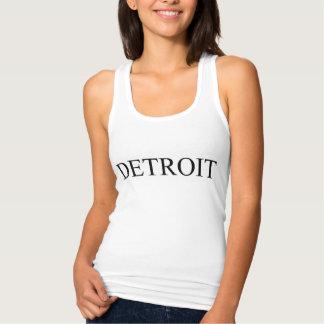 Het mouwloos onderhemd van Detroit racerback Tanktop