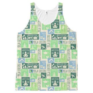 Het mouwloos onderhemd van het Patroon van de yoga All-Over-Print Tank Top