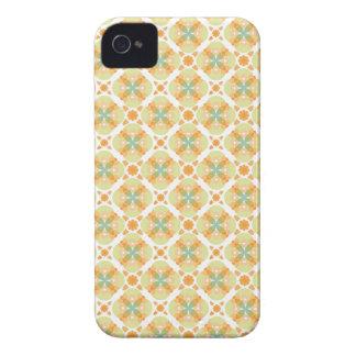 Het mozaïek abstract vector bloemenpatroon van de  iPhone 4 hoesje