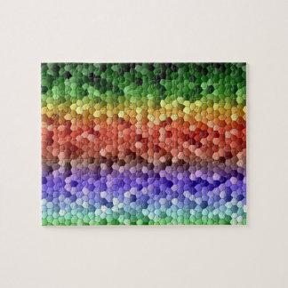 Het Mozaïek van de regenboog Puzzel