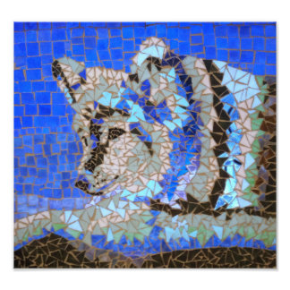 Het Mozaïek van de wolf Foto Prints