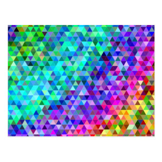 Het mozaïekregenboog van de driehoek briefkaart