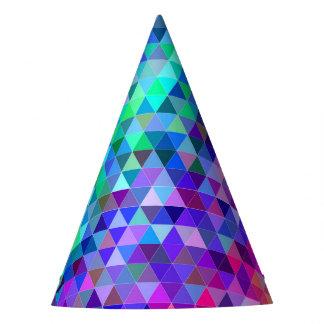 Het mozaïekregenboog van de driehoek feesthoedjes