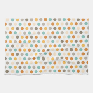 Het Multi Oranje Blauw van de Stippen van de Kleur Keuken Handdoeken