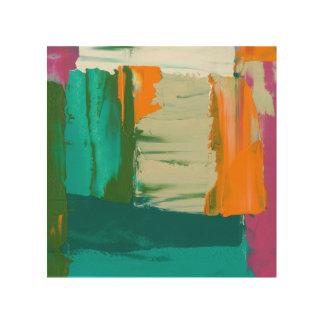 Het Multicolored Vrije Schilderen van de Hout Afdruk