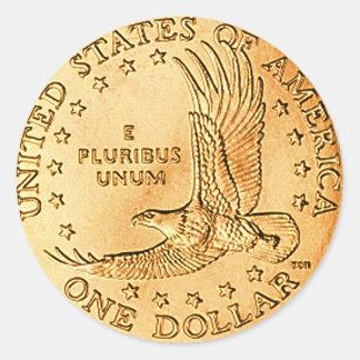 Het Muntstuk de V.S. van de dollar Ronde Sticker
