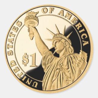 Het Muntstuk van de Dollar van de vrijheid Ronde Sticker